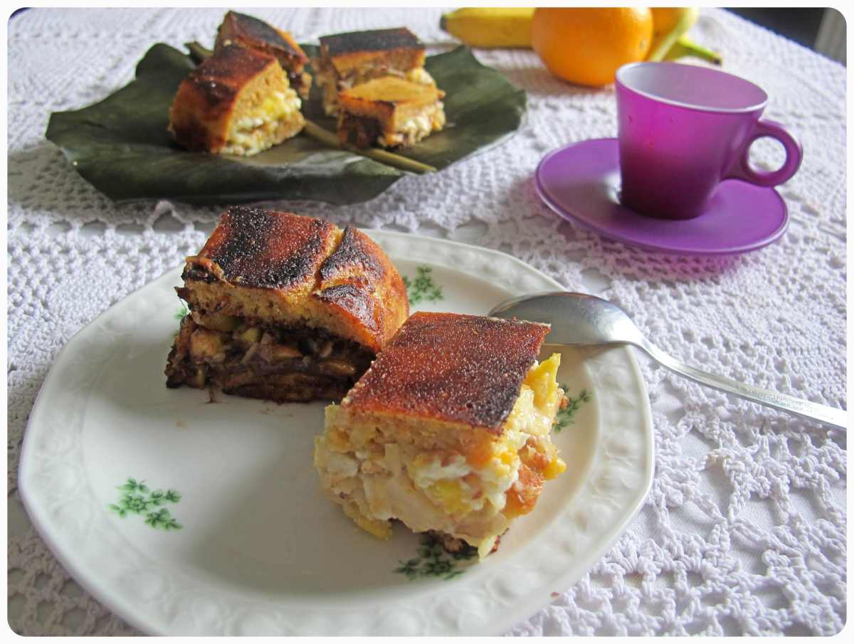 Käse und Schokolade oder Martabak manis