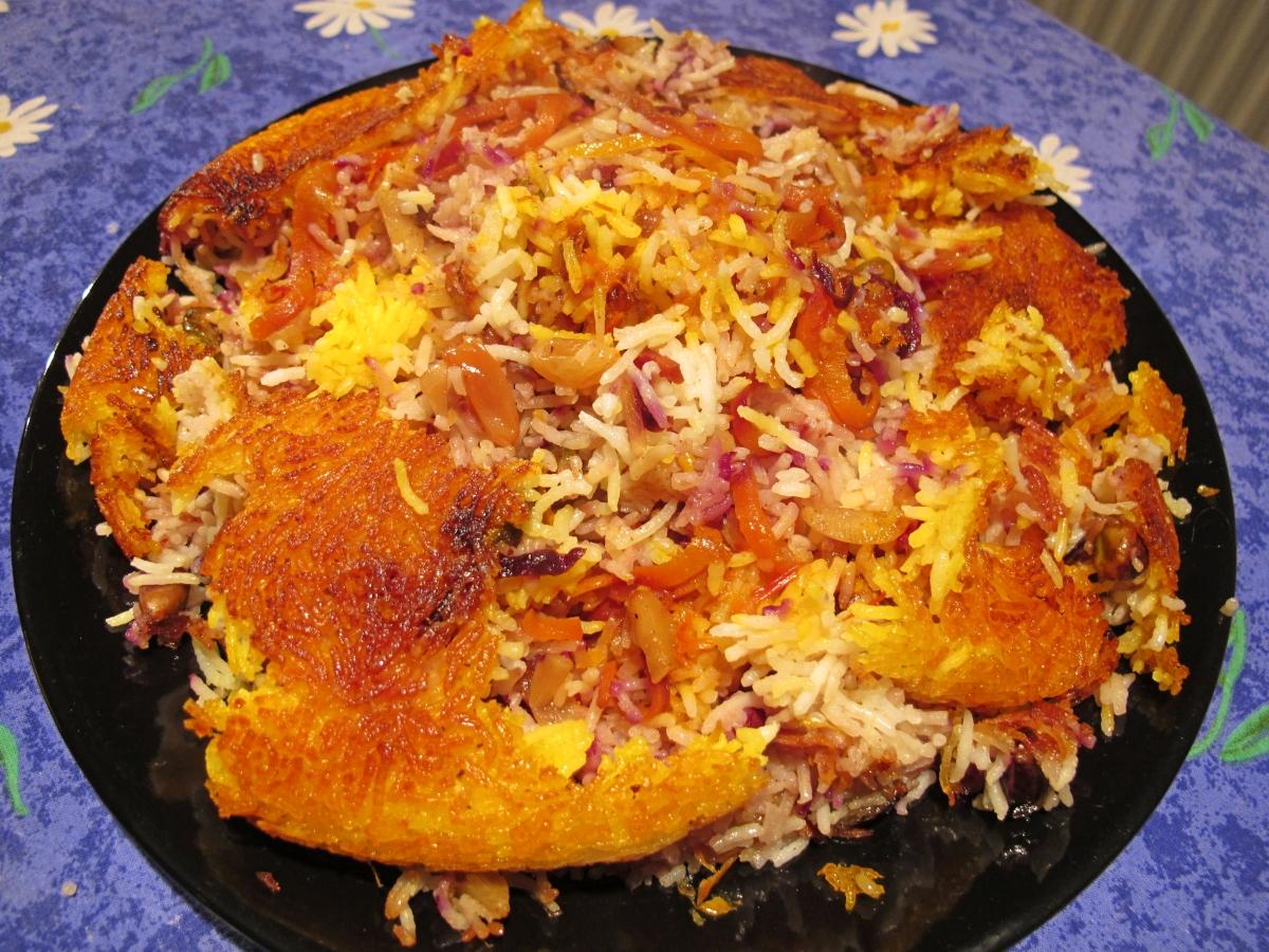 Karotten-Orangen-Reis (Shirin Polo) - شیرين پلو