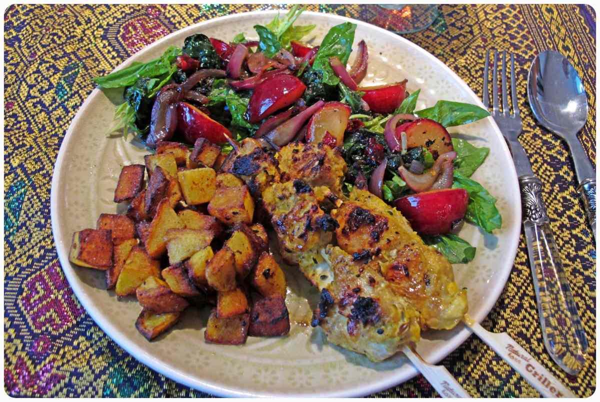 persische Hähnchenspieße (Djudjeh Kebab) - جوجه کباب