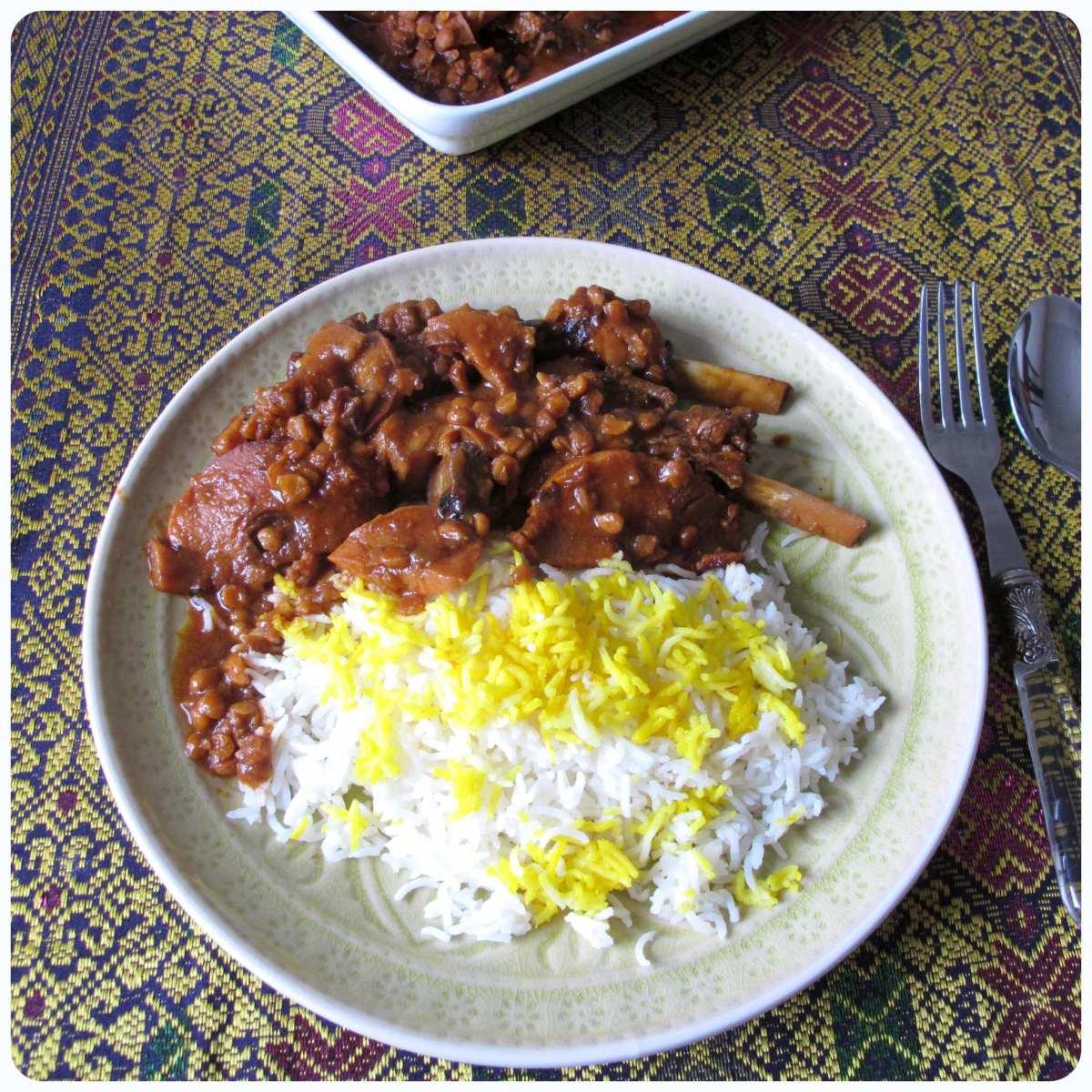persischer Quitteneintopf (Khoresht_e Beh) aus dem Crocky -  خورش به
